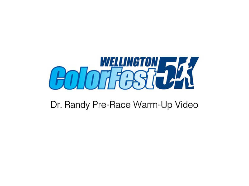 Dr. Randy Pre-Race Warm-ups At Colorfest 2016