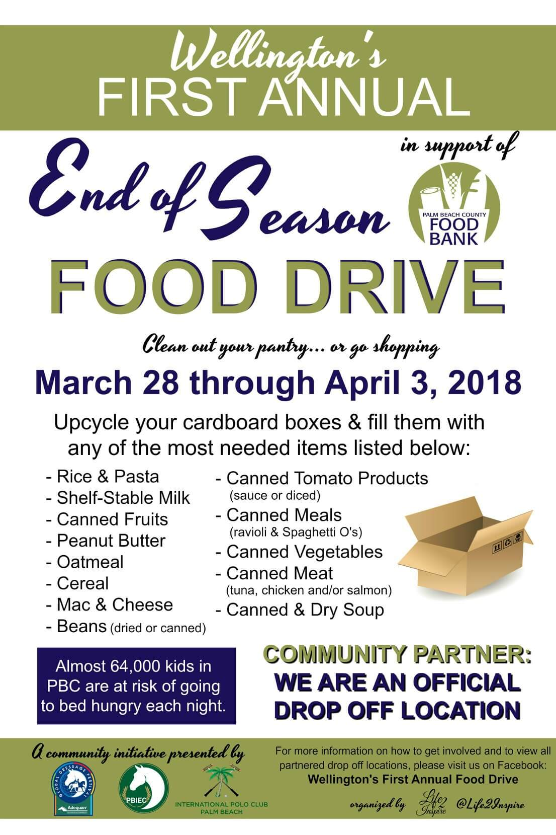 Support Needed For This Food Drive