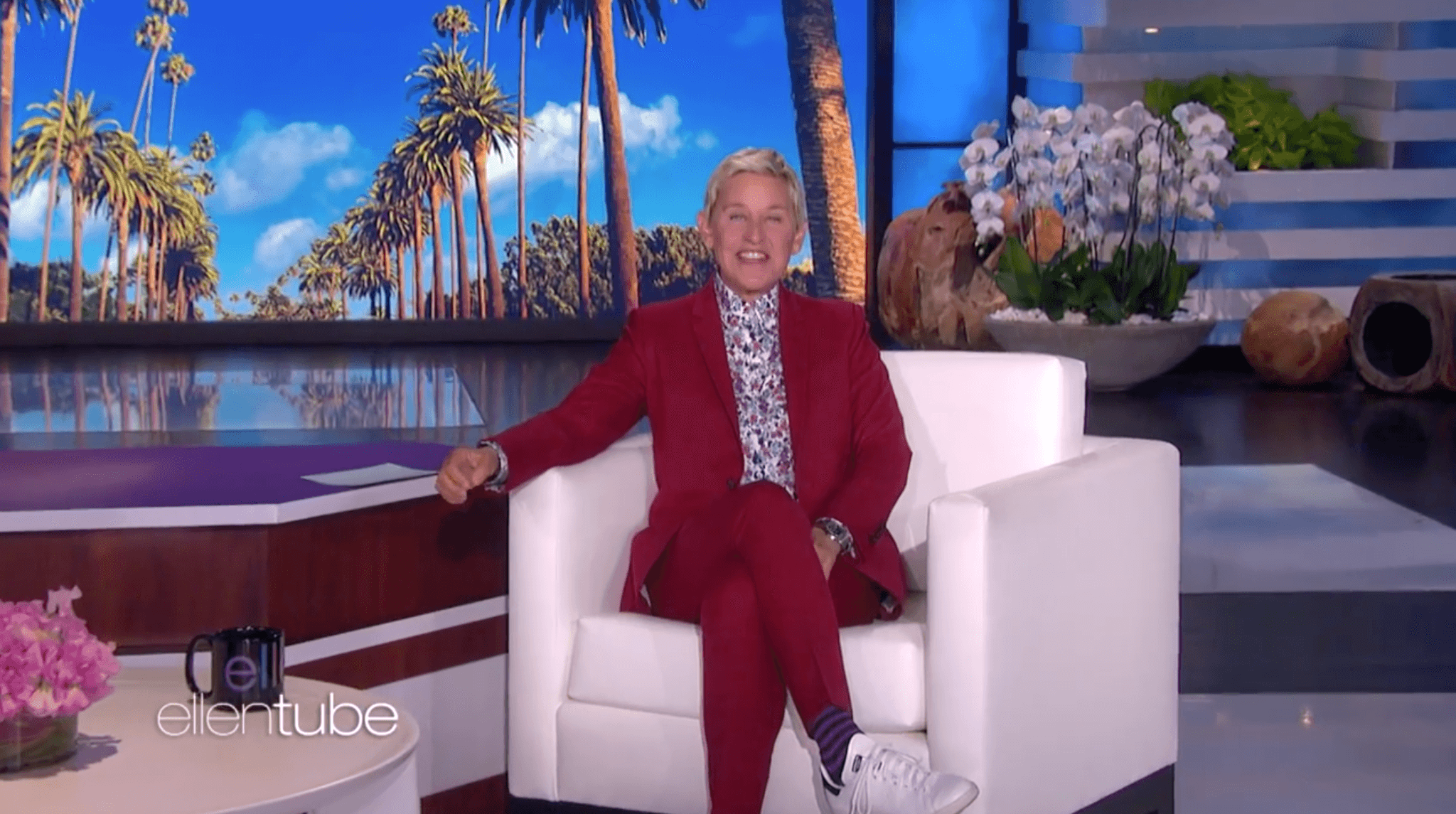 Celebrating Mercy's Last Chemo On The Ellen Degeneres Show
